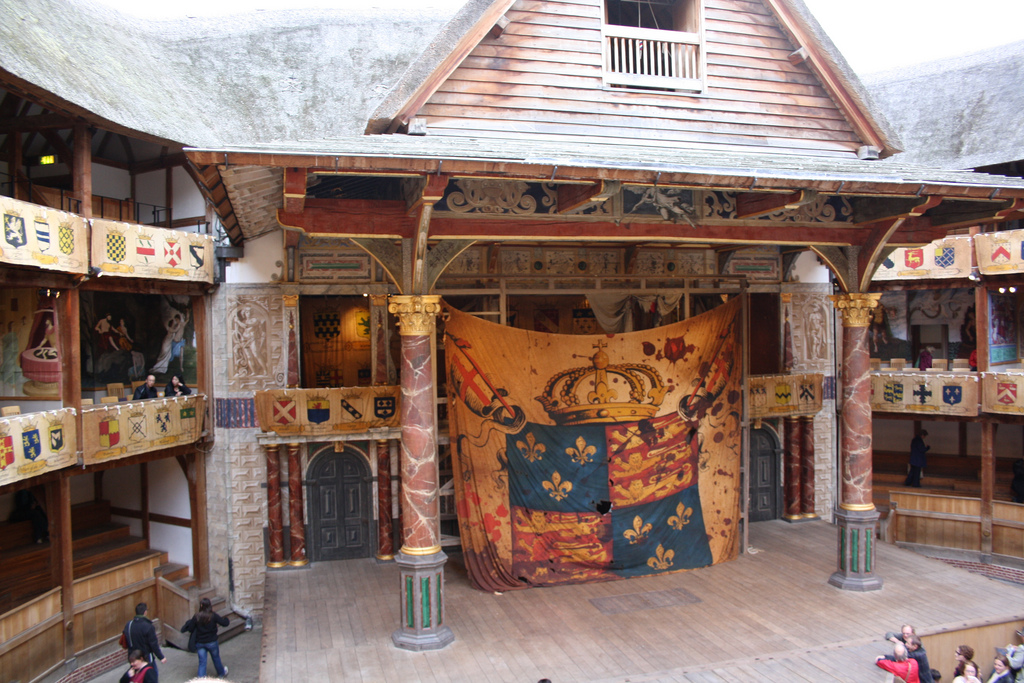 inside Shakespeare's The Globe Theatre in London